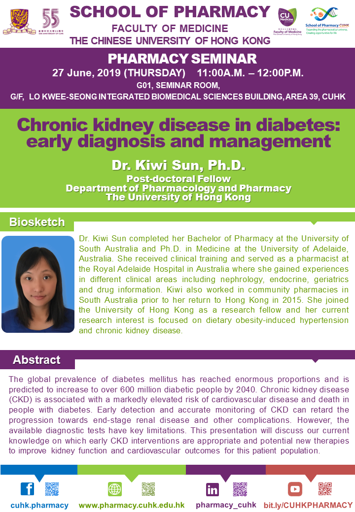Pharmacy Seminar: Chronic kidney disease in diabetes - early diagnosis and management